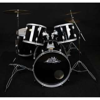 Dr. Drums Smashed Up Drumset (Metallic Silver)