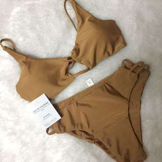 Brown Nude Two Piece Swimsuit Brown Bikini