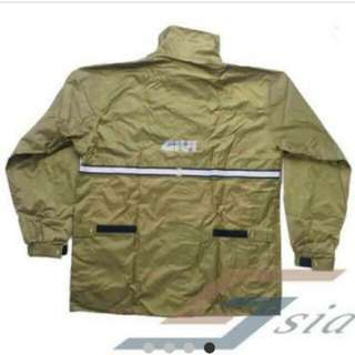 GIVI New RRS03 Rainsuit (Military Green)