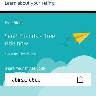 UBER free ride 👌🏼🚘🚙🚗