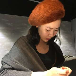 毛毛貝雷帽