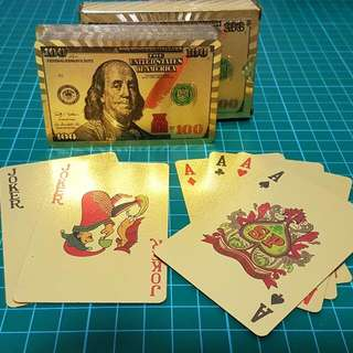 Gold Coated Plastic Poker Cards