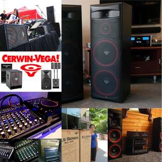 CERWIN-VEGA PROFESSIONAL WAREHOUSE CLEARANCE SALE fr $150