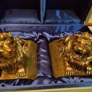 罕有滙豐銀行古銅色大獅子