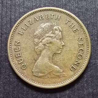 (Lot#1) 1977 Hong Kong (British) Queen Elizerbeth The Second Copper Nickel 50 Cents  香港 伊麗莎白二世 銅鎳幤 五毫