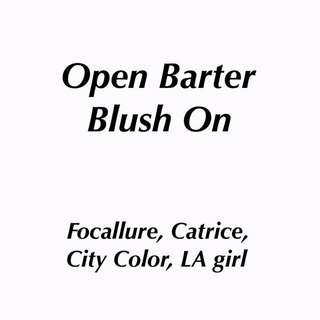 Open barter blush on