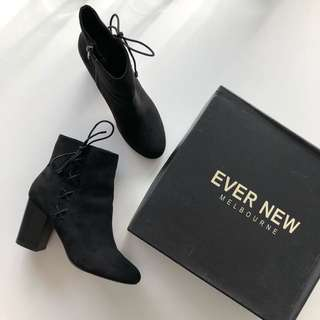 Ever New Melbourne Black Booties (size 8/39)