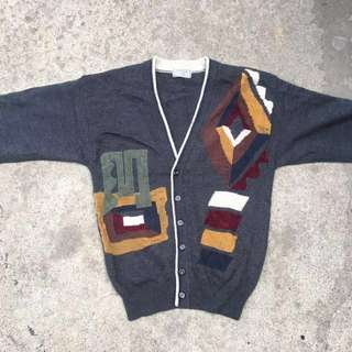 色塊 開襟 灰毛衣 外套 優惠價580元