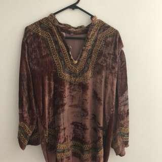 Boho Vintage Festival Hippie Style Long Sleeve Top/jumper