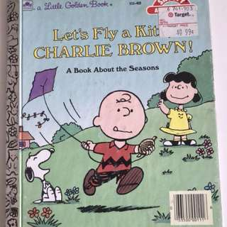 Let's Fly A Kite Charlie Brown - Little Golden Book