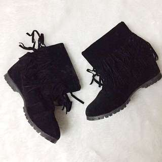 Black Boots Wedge Boots