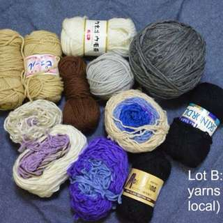 Assorted yarns set B