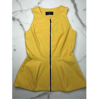 Yellow, CUE, front zipped top