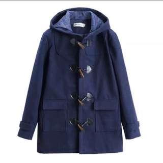 牛角褸 漁天褸 深藍 全新 偏細 顯瘦 韓版 外套 M/L/XL都着到