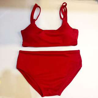 Red Two Piece Swimsuit Red Bikini