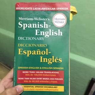 Spanish-English Meriam Webster Dictionary