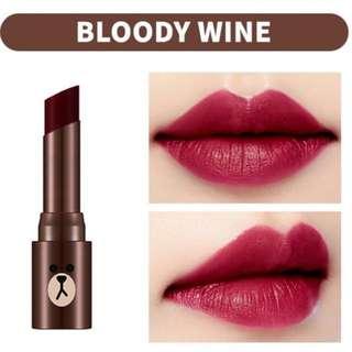 INSTOCK Missha Line Friends Matte Lip Rouge - Bloody Wine / Missha X Line Friends Edition Matte Lip Rouge In MRD03 Bloody Wine