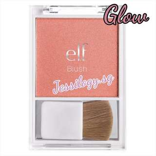 INSTOCK ELF Blush With Brush IN GLOW / e.l.f. Essential Blush with Brush - GLOW / eyeslipsface / ELF Cosmetics Blush with Brush