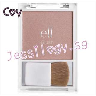 INSTOCK ELF Blush With Brush in COY / ELF Cosmetics / e.l.f. Blush with Brush - COY