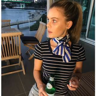 Ralph Lauren navy striped T-shirt