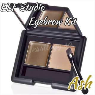INSTOCK e.l.f. Studio Eyebrow Kit / ELF Eyebrow Kit in ASH / ELF Cosmetics Eye Brow Kit in ASH