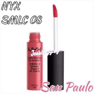 INSTOCK NYX Soft Matte Lip Cream in SAN PAULO - NYX Cosmetics SMLC 08 San Paulo