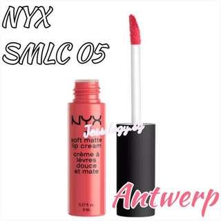 INSTOCK NYX Soft Matte Lip Cream in SMLC05 ANTWERP / NYX Cosmetics SMLC 05 Antwerp