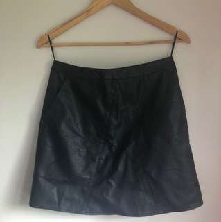 Leather skirt!