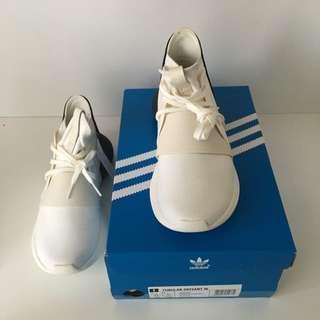 New Adidas Tubular Defiant White/Black Runner Casual Shoes