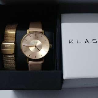 98%新日本KLASSE14玫瑰金手錶