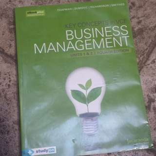 VCE Unit 1 and 2 - BUSINESS MANAGEMENT
