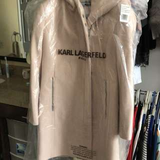 Karl Lagerfeld Wool Coat with hood (brand new no tag)