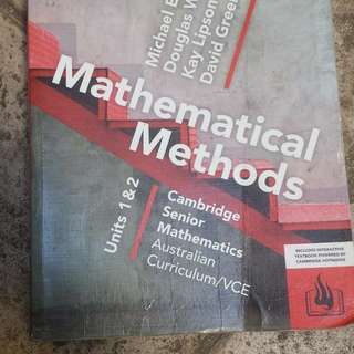 VCE Unit 1 and 2 - MATH METHODS