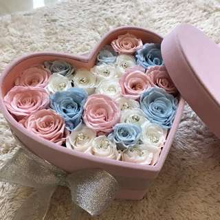 [Roses Éternelles] Preserved Roses In Heart Sharp Box