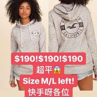 Hollister hoodie超抵買!