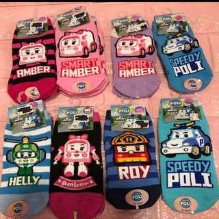 Instock authentic robocar poli anti slip socks brand new size 9-14cm no more restock while stock last !!