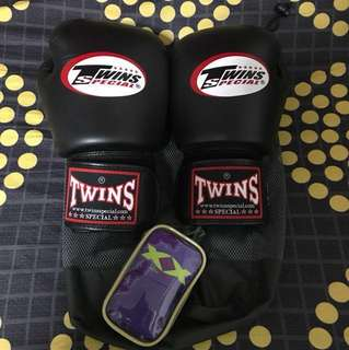 Twins Boxing Gloves 12oz with Handwrap