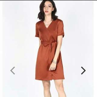 Love Bonito LB Fyelo Foldover Dress Size XL