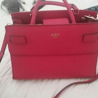 Guess fuschia pink bag
