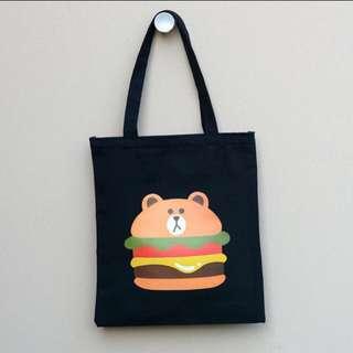 🔥[ THROWSALES ] LINE Brownie Shoulder Canvas Bag