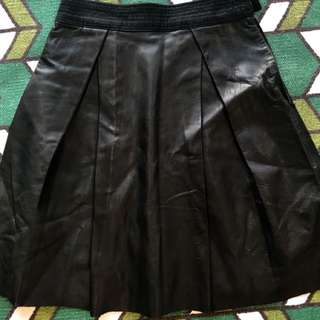 Real leather skirt black