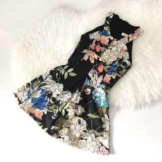 Dress Floral Black Premium S