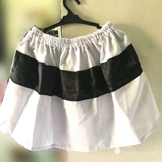 Black and white costume skirt