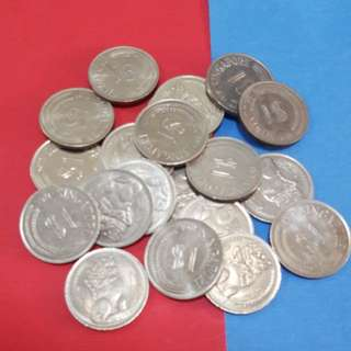 $1-lion coins mixed year 1970-1971 *20pcs*