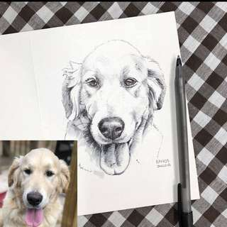 Custom Pet Portrait Card, Made For Order, Personalized Order, Perfect For Gift