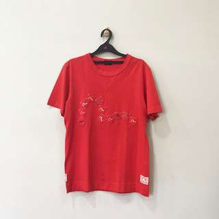 Evisu Red T-Shirt