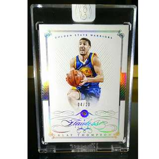 2014-2015 Klay Thompson Panini Flawless Diamond Card 04/20