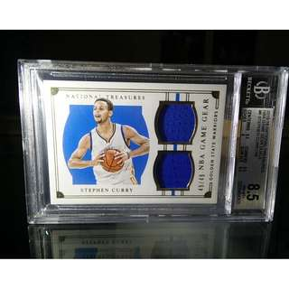 2015-2016 Stephen Curry National Treasures Game Gear Duals Jersey Card