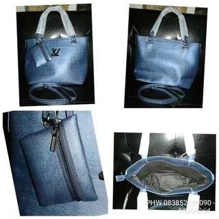 LV Premium Polos Biru Mettalic