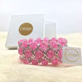 Candy Cuff - Pink and Silver